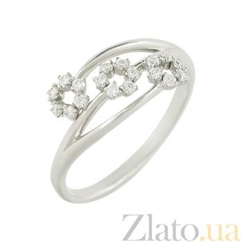 Золотое кольцо с фианитами Весна В666-ММ1635-1