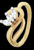 Серебряное кольцо с фианитами Флорика