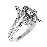 Кольцо из белого золота с бриллиантами Сюзанна