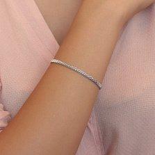 Серебряный браслет Дайн в четверном венецианском плетении, 3мм