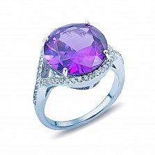 Серебряное кольцо с александритом и цирконами Трисия