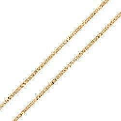 Золотая цепь Женева в плетении ромб, 2мм