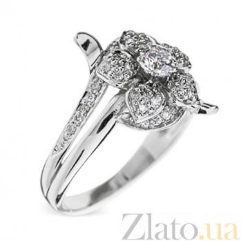 Кольцо из белого золота с бриллиантами Сюзанна R 0076