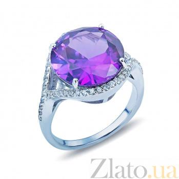 Серебряное кольцо с александритом и цирконами Трисия AQA--R01641Al
