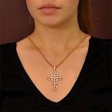 Массивный золотой крест Покаяние