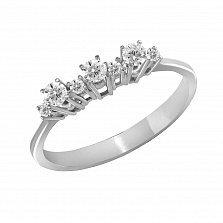 Кольцо из белого золота Джемма с бриллиантами