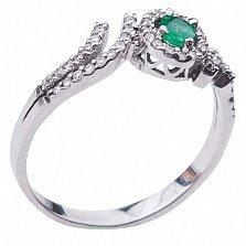 Золотое кольцо Оливия с изумрудом и бриллиантами