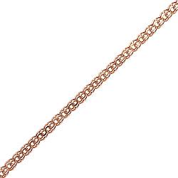 Серебряная цепочка Эльдис в позолоте с алмазной насечкой