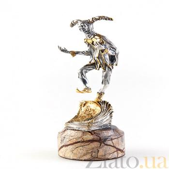 Серебряная статуэтка с позолотой Злой гений 178