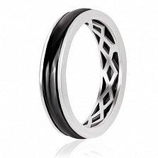 Кольцо из серебра Меллари с керамикой