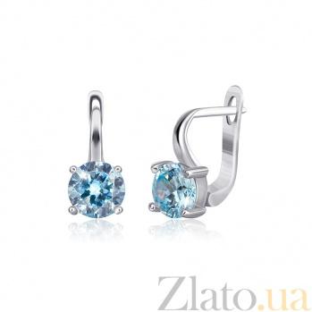 Серебряные сережки с фианитами Финелла 000024594