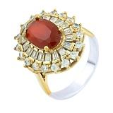 Кольцо из серебра и бронзы Барбара с рубином и фианитами