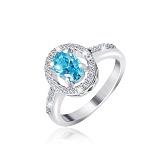 Серебряное кольцо Мелестина с фианитами