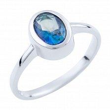 Серебряное кольцо Беатрис с топазом мистик