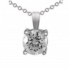 Кулон из белого золота Даяна с бриллиантом