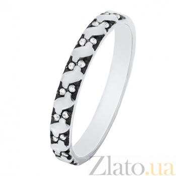 Золотое кольцо Арианта с белыми фианитами 000023502