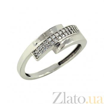 Золотое кольцо с фианитами Джина 2К304-0063