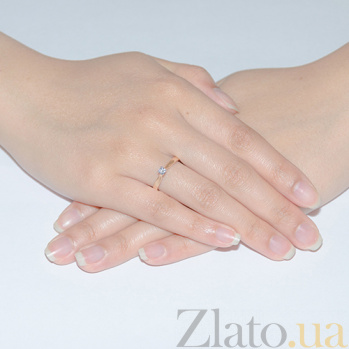 Золотое кольцо с цирконием Паулина TRF--1121028