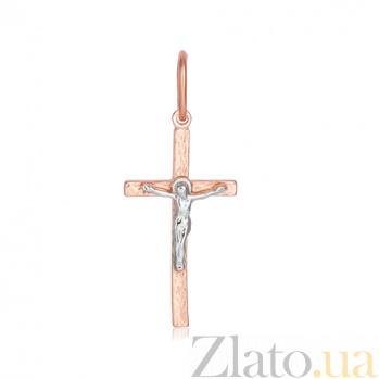 Серебряный крестик Светлый покровитель 000028645