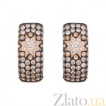 Золотые серьги с бриллиантами Радмила 1С759-0250