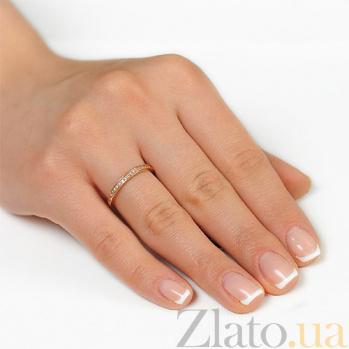 Золотое кольцо из красного золота Венчальное EDM--КД0454