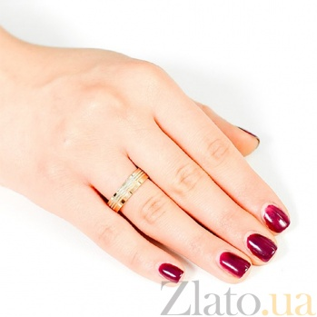 Золотое обручальное кольцо Симметрия любви 000001662