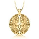 Золотой подвес с бриллиантами Талисман: Любви