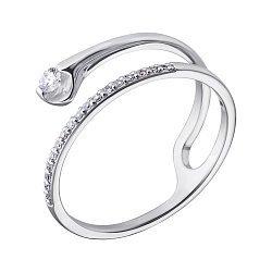 Кольцо из белого золота с бриллиантами 000128988