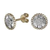 Золотые серьги Роскошь с бриллиантами