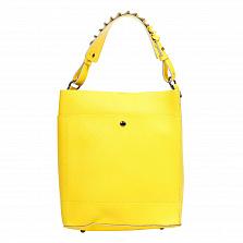 Сумка На Каждый День Italian Bags 8965_yellow Кожаная Желтый