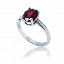 Серебряное кольцо Оливия с родолитом