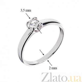 Кольцо Сердце из белого золота с бриллиантом R0692/A03В01F02C01K02