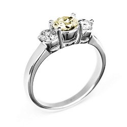 Кольцо в белом золоте Сияние с бриллиантами