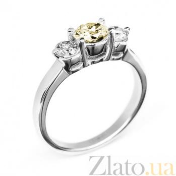 Кольцо в белом золоте Сияние с бриллиантами 000079271