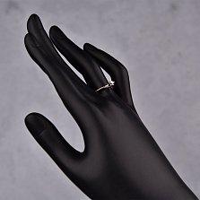 Серебряное кольцо Цветок любви с бриллиантом