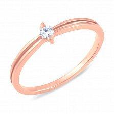 Золотое кольцо Глория с бриллиантом