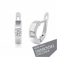 Серебряные серьги Арина с цирконием SWAROVSKI ZIRCONIA