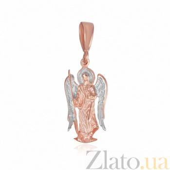 Серебряный подвес Ангел-хранитель с частичной позолотой 000025223