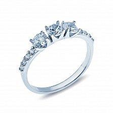 Серебряное кольцо с фианитами Андрия