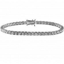 Золотой браслет Принцесса Диана в белом цвете с бриллиантами