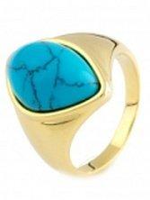 Серебряное кольцо Таиса с бирюзой