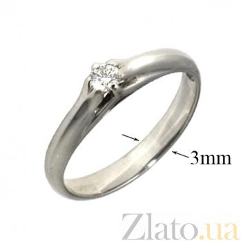 Золотое кольцо с бриллиантом Данелия PTL--3к606/21