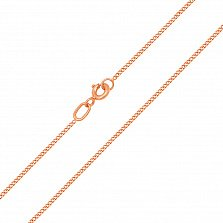 Золотая цепочка Гаррата в панцирном плетении, 1мм