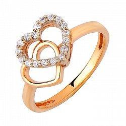 Золотое кольцо с цирконием 000011303