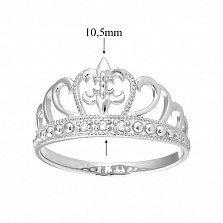 Серебряное кольцо Диадема с тремя белыми фианитами