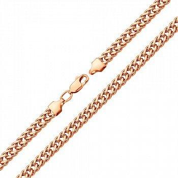 Браслет из красного золота в плетении ромб 000123279
