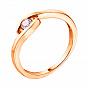 Золотое помолвочное кольцо Таира в красном цвете с бриллиантом