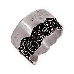 Кольцо из серебра Detection с чернением 000091449