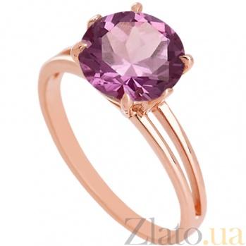 Золотое кольцо с аметистом Лазурь 000029218