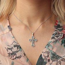 Крест из серебра Олицетворение веры с чернением